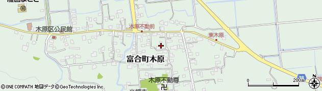 熊本県熊本市南区富合町木原周辺の地図