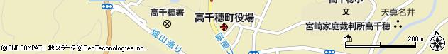 宮崎県西臼杵郡高千穂町周辺の地図