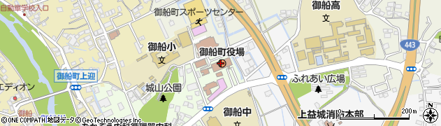 熊本県御船町(上益城郡)周辺の地図