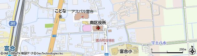 熊本県熊本市南区周辺の地図