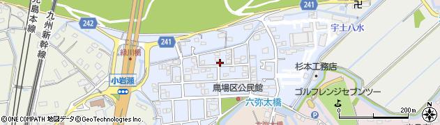 熊本県熊本市南区富合町杉島周辺の地図