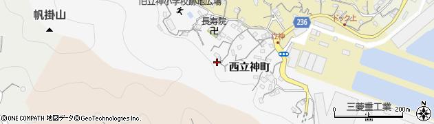 長崎県長崎市西立神町周辺の地図