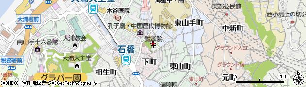 誠孝院周辺の地図