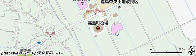 熊本県上益城郡嘉島町周辺の地図