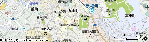 長崎県長崎市丸山町周辺の地図