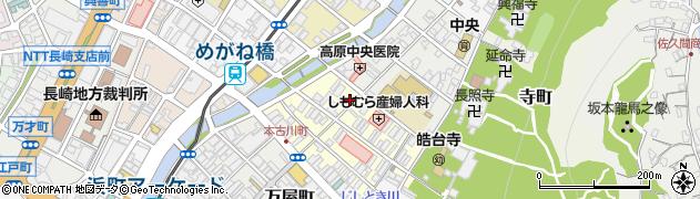 長崎県長崎市古川町周辺の地図