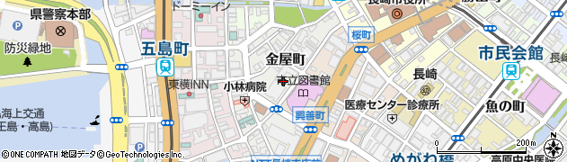 長崎県長崎市金屋町周辺の地図