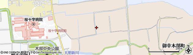 熊本県熊本市南区御幸木部町周辺の地図