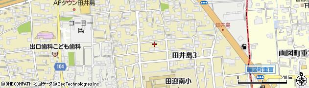熊本県熊本市南区田井島周辺の地図