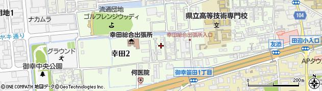 熊本県熊本市南区幸田周辺の地図