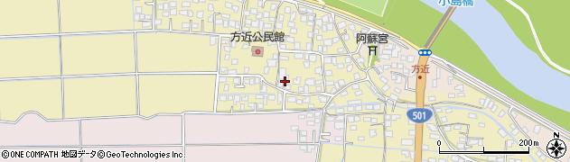 熊本県熊本市西区中原町周辺の地図