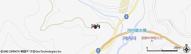 宮崎県高千穂町(西臼杵郡)河内周辺の地図