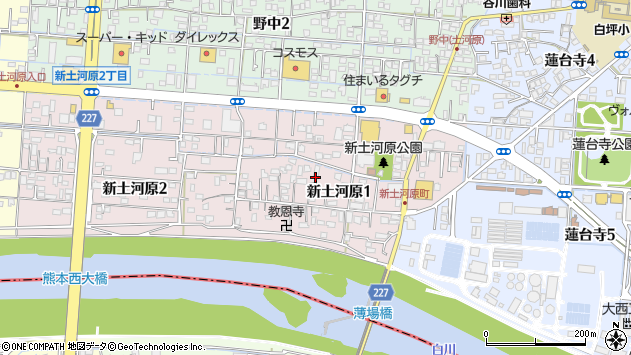 〒860-0056 熊本県熊本市西区新土河原の地図