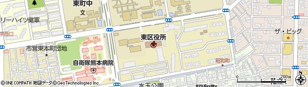熊本県熊本市東区周辺の地図