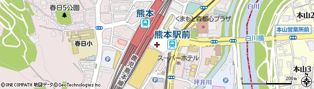 熊本県熊本市西区周辺の地図