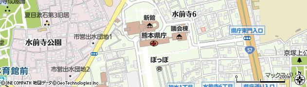 熊本県周辺の地図