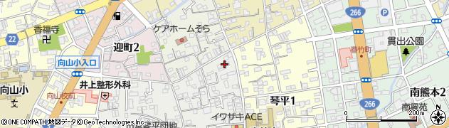 肥後銀行寮周辺の地図