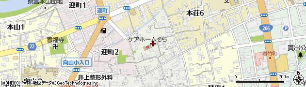 熊本県熊本市中央区弥生町周辺の地図