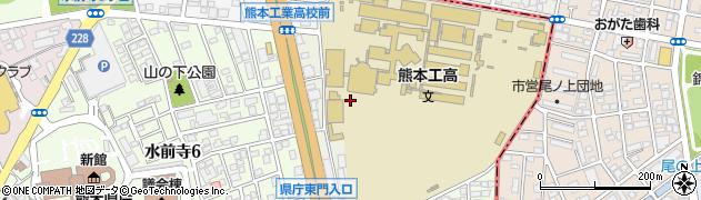 熊本県熊本市中央区上京塚町周辺の地図