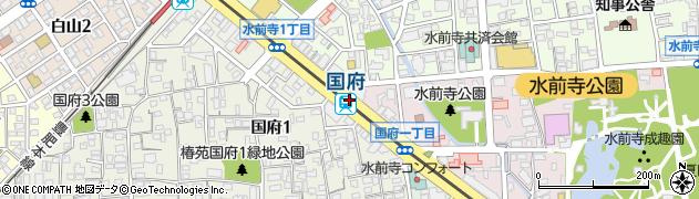 熊本県熊本市中央区周辺の地図