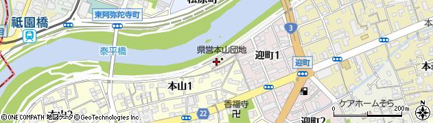 本山団地周辺の地図
