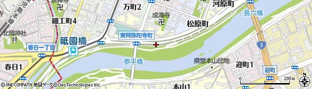 熊本県熊本市中央区紺屋阿弥陀寺町周辺の地図
