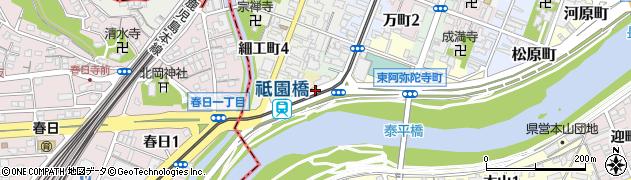 熊本県熊本市中央区川端町周辺の地図