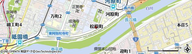 熊本県熊本市中央区松原町周辺の地図