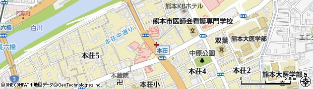 熊本県熊本市中央区本荘周辺の地図