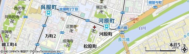 熊本県熊本市中央区横紺屋町周辺の地図