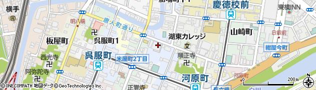 熊本県熊本市中央区鍛冶屋町周辺の地図