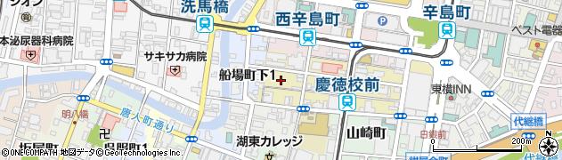 熊本県熊本市中央区練兵町周辺の地図