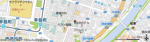 リパーク熊本下通2丁目第5周辺の地図