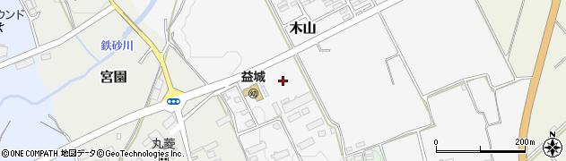 熊本県上益城郡益城町周辺の地図