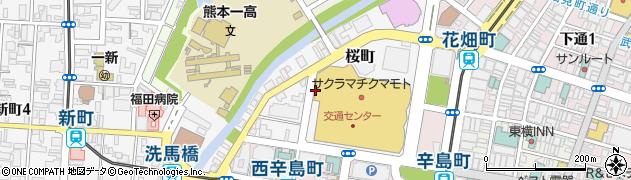 熊本県熊本市中央区桜町周辺の地図