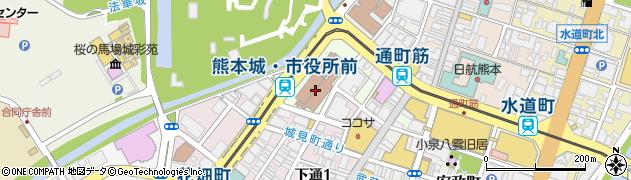 熊本市周辺の地図