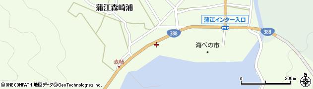 大分県佐伯市蒲江大字森崎浦1428周辺の地図