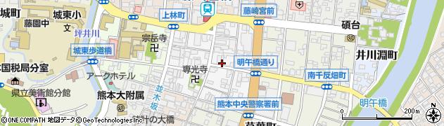 タイムズ24株式会社 熊本営業所周辺の地図