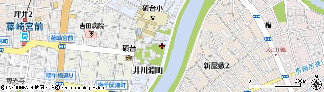 熊本県熊本市中央区井川淵町周辺の地図