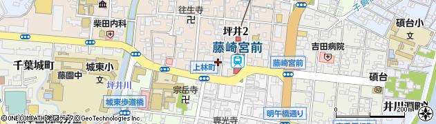 タイムズ坪井第2周辺の地図