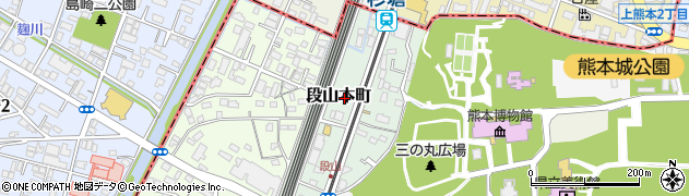 熊本県熊本市中央区段山本町周辺の地図