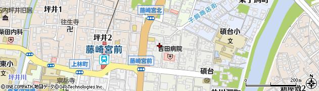 熊本県熊本市中央区北千反畑町周辺の地図