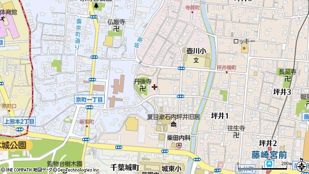 〒860-0077 熊本県熊本市中央区内坪井町の地図