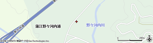 大分県佐伯市蒲江大字野々河内浦1348周辺の地図