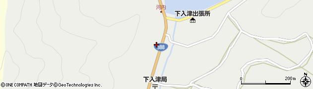 大分県佐伯市蒲江大字竹野浦河内287周辺の地図