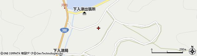 大分県佐伯市蒲江大字竹野浦河内周辺の地図