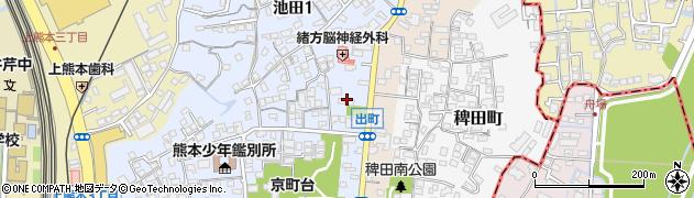 四方寄熊本線周辺の地図