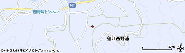 大分県佐伯市蒲江大字西野浦1167周辺の地図