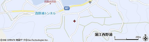 大分県佐伯市蒲江大字西野浦1119周辺の地図
