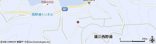 大分県佐伯市蒲江大字西野浦1113周辺の地図